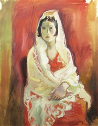 spanish woman in white by iosif iser