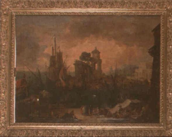vue de port imaginaire avec larc de triomphe et le mausolée de saint rémy by jean baptiste de larose