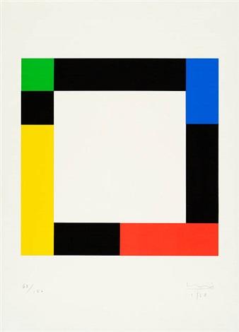 O.T. Farbige Rechtecke im Quadrat by Max Bill on artnet