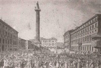 colonna place in carnival time, rome by james (j.) merigot