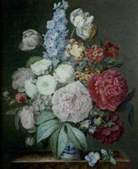bouquet de fleurs dans un vase chinois by céleste dorville