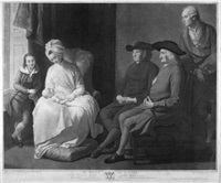 mr. west and family (after benjamin west) by georg s. & johann g. facius