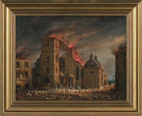 fire the dominican church in krakow by teodor baltazar stachowicz