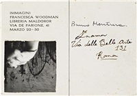angels, rome - postcard invitation for immagini exhibition by francesca woodman
