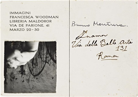 angels rome postcard invitation for immagini exhibition by francesca woodman