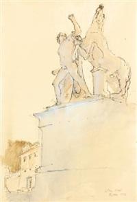 fontana dei dioscuri, rome by john stanton ward