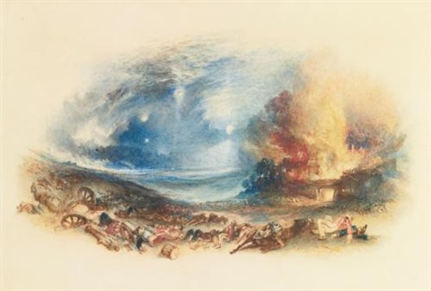 the field of waterloo seen from hougoumont by joseph mallord william turner