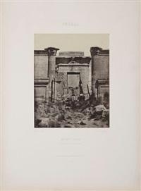 haute égypte, medinet-habou, louxor, temple de ramses iii, pl.47 by maxime du camp