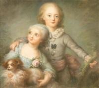 portraits de deux enfants du comte d'artois by anne rosalie filleul
