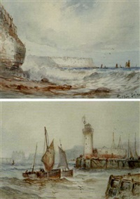 flamboro head (+ the lighthouse, scarborough; pair) by austin smith