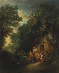 the cottage door by thomas gainsborough