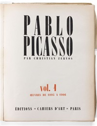 catalogue raisonné pablo picasso (34 vols. in-4) by christian zervos