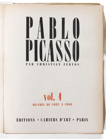 catalogue raisonné pablo picasso 34 vols in 4 by christian zervos