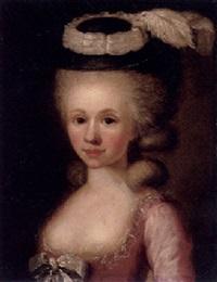 porträt einer jungen dame by heinrich freudweiler