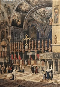 interior of st. mark's in venice by joseph josiah dodd