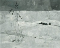 untitled (winter landscape) by louis b. sloan