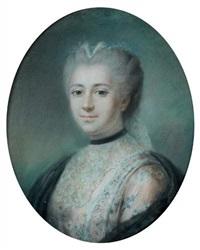 portrait de femme au ruban noir by antoine vestier