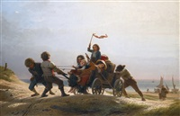 fröhliche morgenfahrt (the return from fishing) by johann georg meyer von bremen