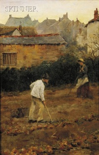 planting potatoes by fredrick millard