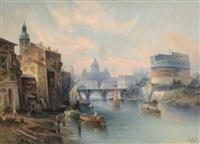 capriccio city view of rome by c. ganto