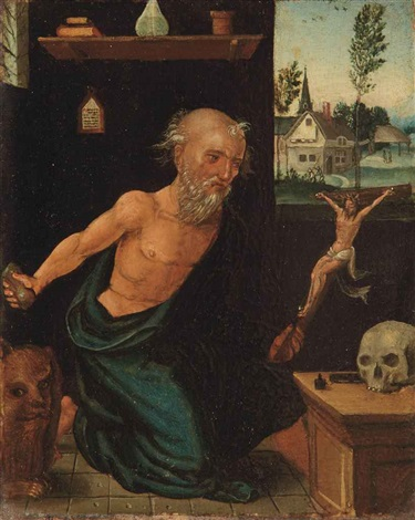the pentinent saint jerome by flemish school antwerp 16
