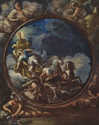 phaethon in the chariot of apollo: a modello by luca giordano