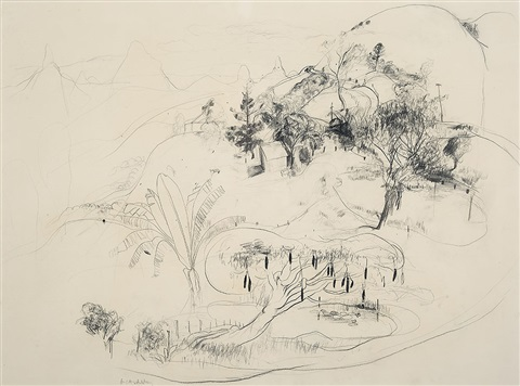 queensland sketch by brett whiteley