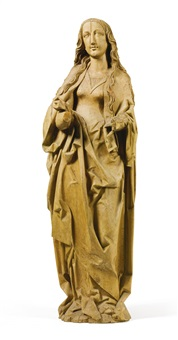 female saint, possibly the virgin by tilman riemenschneider