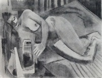 reclining nude by j. stanford perrott