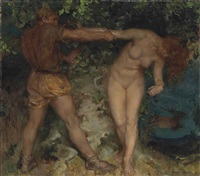 hamadryad and the woodsman by william russell flint