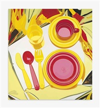 plate set by jeff koons