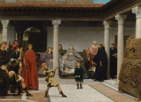 education of the children of clovis school of vengeance training of clotildes sons by sir lawrence alma tadema