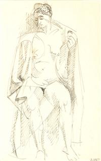 modèle nu feminin au drapé by andré lhote