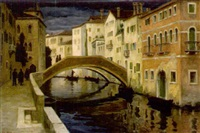 abend in venedig by hugo noske