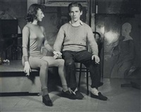 willem and elaine de kooning, new york by ellen auerbach
