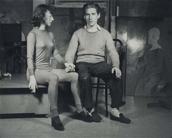 willem and elaine de kooning new york by ellen auerbach