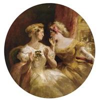 gossips at the opera by george cruikshank