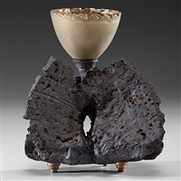 gold mortar bowl with base by adrian saxe