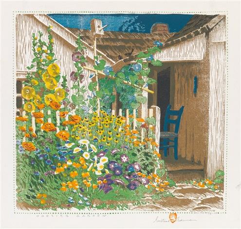 Grandma Battinu0027s Garden (hoosier Garden) By Gustave Baumann