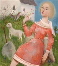 mädchen im roten kleid by robert angerhofer