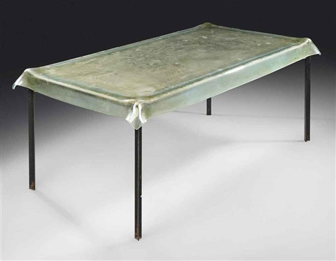 Illusion table by philippe starck on artnet for Philippe starck glass table