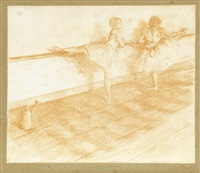a la barre (from quinze lithographies) by edgar degas & georges w. thornley