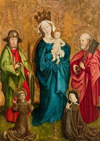 maria als himmelskönigin mit dem kind und den heiligen jacobus major, petrus, franziskus und klara by austrian school-tyrolean (15)
