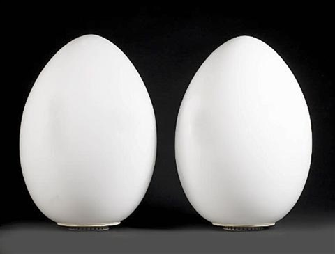pair of uovo lamps by ben swildens