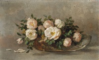 roses on a shallow bowl by anna eliza hardy