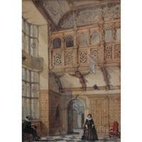 hatfield house, lord salisbury by joseph nash