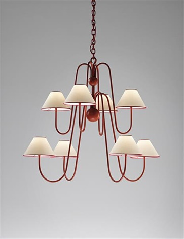 eight armed bouqquet chandelier by jean royère