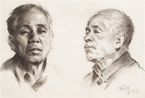 a sketch of portrait a skech of human body 2 works by liu guoshu