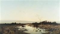 paysage aux biches by mikhail konstantinovich klodt von jurgensburg