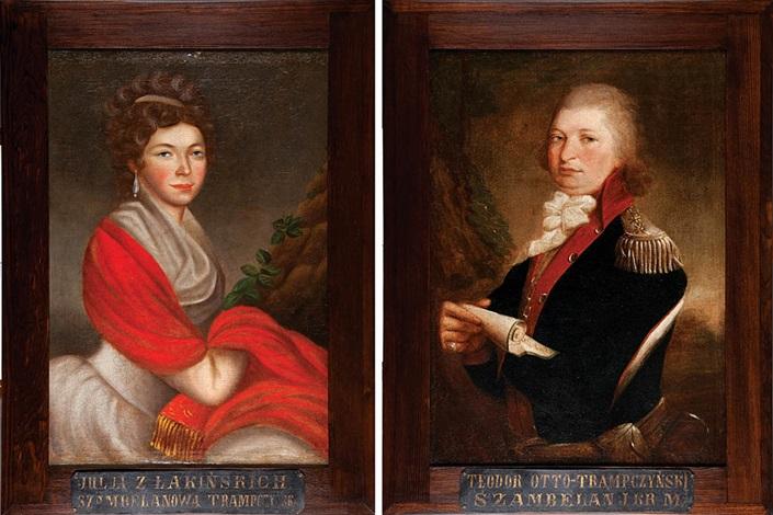 malzonkowie teodor otto i julia z lakinskich trampczynscy pair by jozef faworski